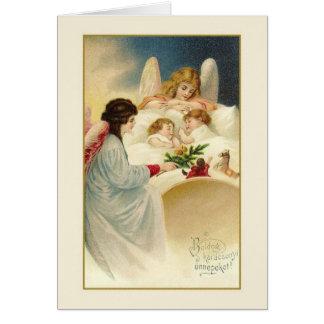 Vintage Hungarian Karácsonyi Christmas Card
