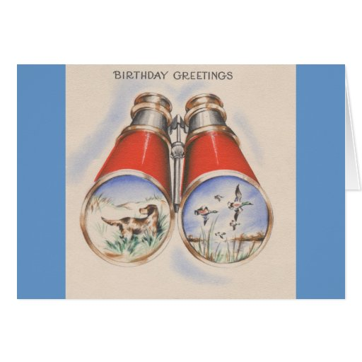 Vintage Hunter Birthday Greetings Greeting Cards