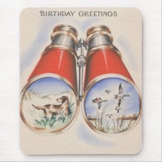 Vintage Hunter Birthday Greetings Mouse Pad