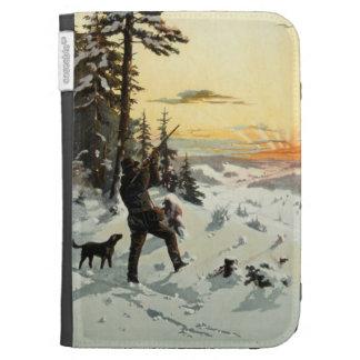 Vintage Hunter Dog Gun Amazon Kindle E-Reader Case Kindle 3 Covers