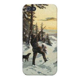 Vintage Hunting Dog Gun Art Apple iPhone 5 Case