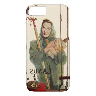 Vintage Husband and Wife with Gardening Tools iPhone 7 Case