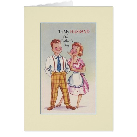 Vintage Husband Father's Day Greeting Card