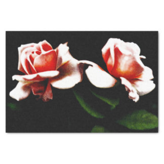 Vintage Hybrid Tea Rose Photo Tissue Paper