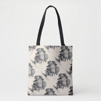 Vintage Hydrangea Flower All-Over-Print Tote Bag