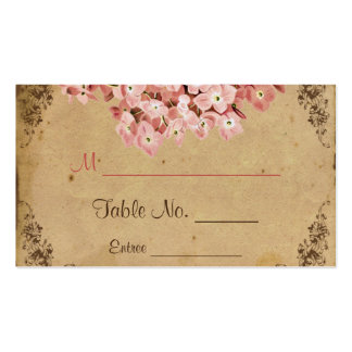 Vintage Hydrangea Wedding Place Cards Business Card