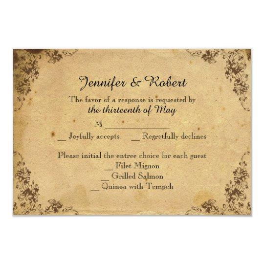 Vintage Hydrangea Wedding Response Card