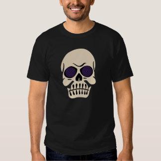 Vintage Hypnotic Eye Skull - Purple Shirt