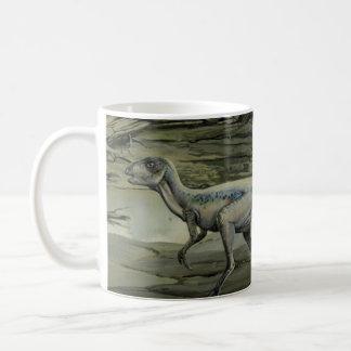 Vintage Hypsilophodon Dinosaur, Cretaceous Period Basic White Mug