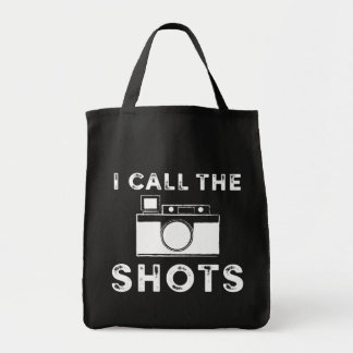 Vintage I call the Shots Camera White Graphic Tote Bag