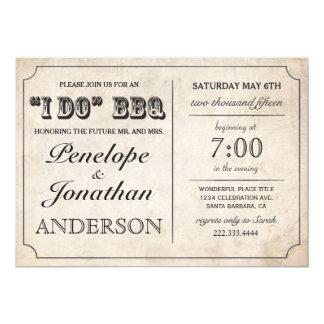 Vintage I DO BBQ Invitations