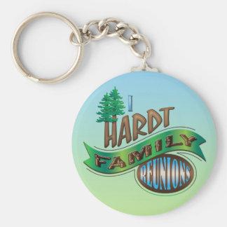 Vintage I Hardt Family Reunions Basic Round Button Key Ring