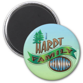 Vintage I Hardt Family Reunions 6 Cm Round Magnet