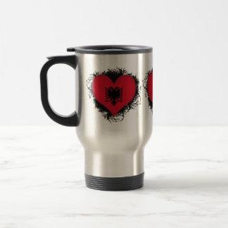 Vintage I Love Albania Travel Mug