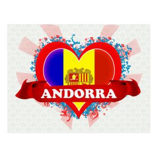 Vintage I Love Andorra Postcard