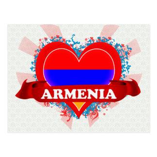 Vintage I Love Armenia Postcard