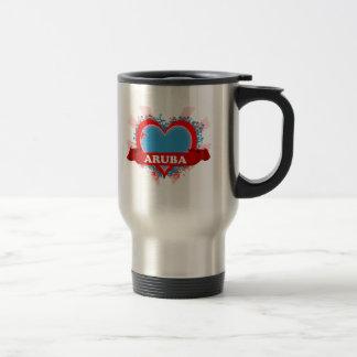 Vintage I Love Aruba Travel Mug