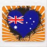 Vintage I Love Australia Mouse Mat