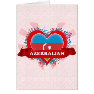 Vintage I Love Azerbaijan Card