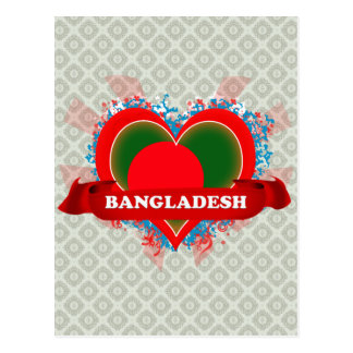 Vintage I Love Bangladesh Postcard