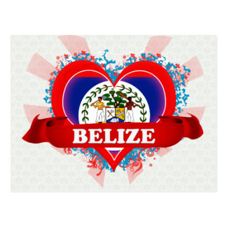 Vintage I Love Belize Postcard