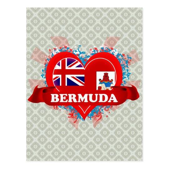 Vintage I Love Bermuda Postcard