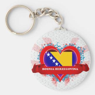 Vintage I Love Bosnia Herzegovina Key Ring