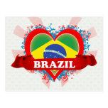 Vintage I Love Brazil Postcard
