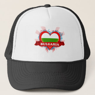 Vintage I Love Bulgaria Trucker Hat