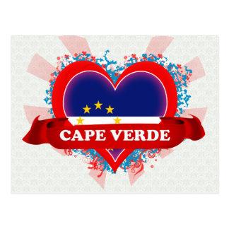 Vintage I Love Cape Verde Postcard