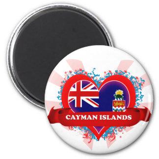 Vintage I Love Cayman Islands 6 Cm Round Magnet