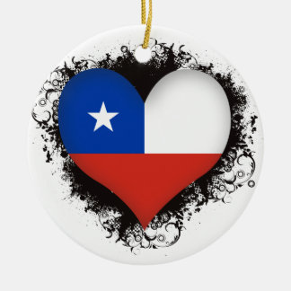 Vintage I Love Chile Christmas Ornament