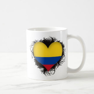 Vintage I Love Colombia Coffee Mug