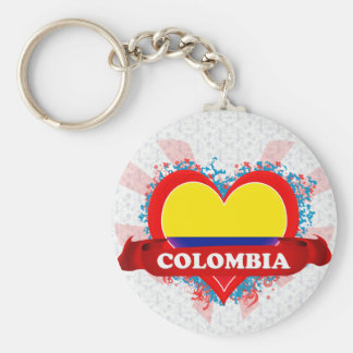 Vintage I Love Colombia Key Ring