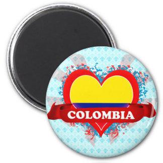 Vintage I Love Colombia Magnet