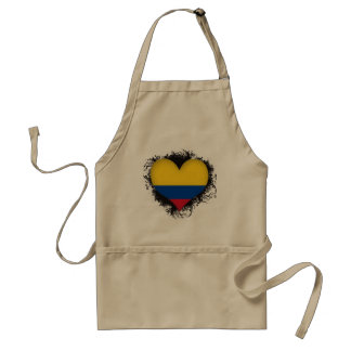 Vintage I Love Colombia Standard Apron