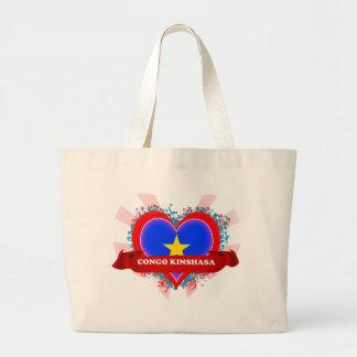 Vintage I Love Congo Kinshasa Bags