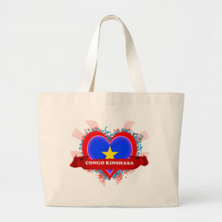 Vintage I Love Congo Kinshasa Jumbo Tote Bag