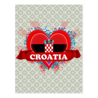 Vintage I Love Croatia Post Cards