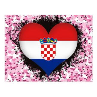 Vintage I Love Croatia Post Card