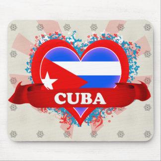 Vintage I Love Cuba Mouse Mat