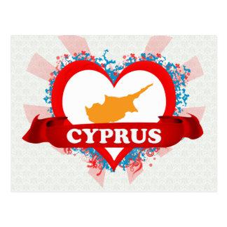 Vintage I Love Cyprus Postcard