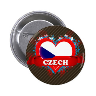Vintage I Love Czech 6 Cm Round Badge