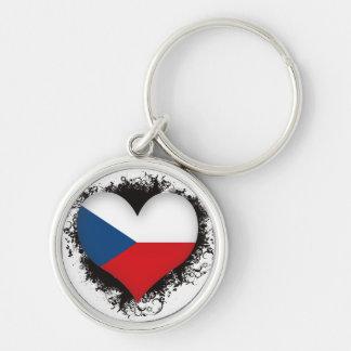 Vintage I Love Czech Republic Key Ring