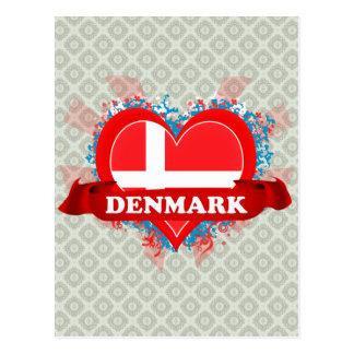 Vintage I Love Denmark Post Card