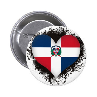 Vintage I Love Dominican Republic Buttons
