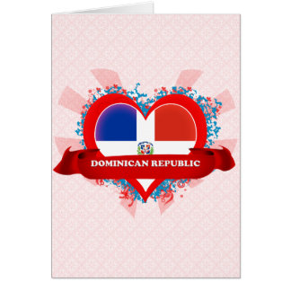 Vintage I Love Dominican Republic Greeting Card