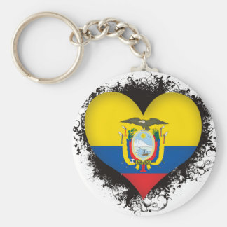 Vintage I Love Ecuador Key Ring
