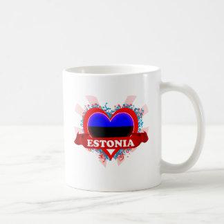 Vintage I Love Estonia Coffee Mug