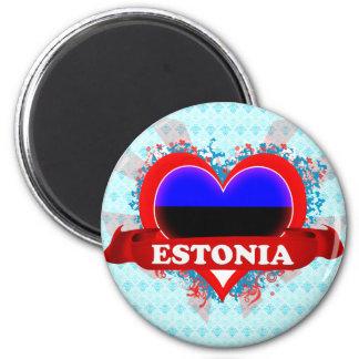 Vintage I Love Estonia Magnet